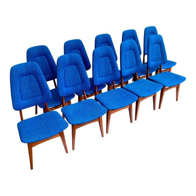 1960s Scandinavian Modern Sorheim Bruk Teak Dining Chairs - Set of 10 For Sale