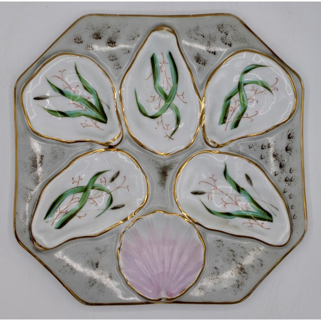 1960s Slate Blue Oyster Plate For Sale - Image 10 of 12