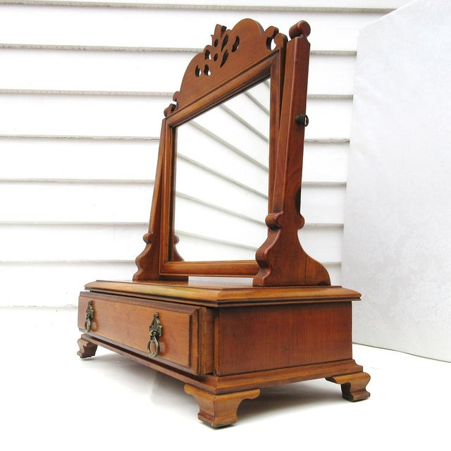 Vintage Men's Wood Shaving Stand & Valet For Sale - Image 6 of 9