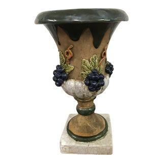 Italian Decorative Pottery Urn For Sale