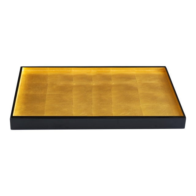 Gold Leaf London Medium Tray For Sale