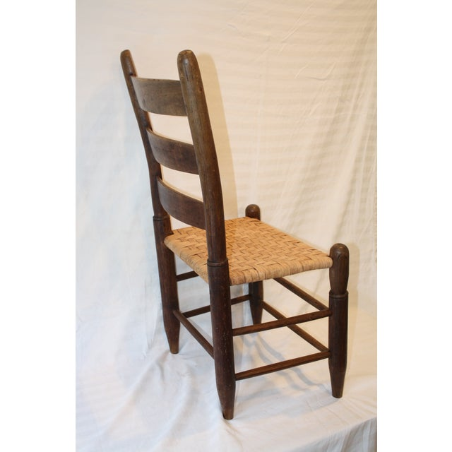 Rustic Ladder Back Chair With Split Oak Seat - Image 5 of 7