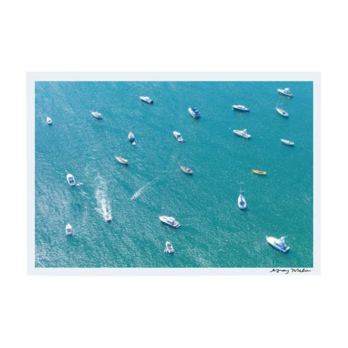 """Framed """"Nantucket Harbor"""" Aerial Photograph by Gray Malin (Signed Ed. 4/100) For Sale"""
