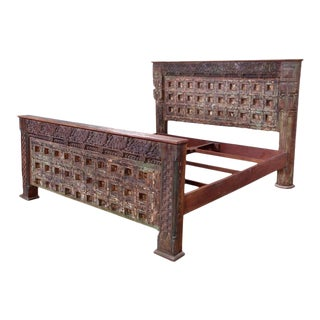 Antique Indian Door King Size Bedframe For Sale