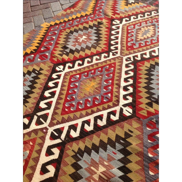 Vintage Turkish Kilim Rug - 5′5″ × 8′5″ For Sale - Image 5 of 7