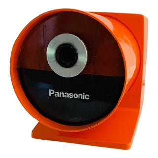 Panasonic Orange Mid Century Modern Space Age Pencil Sharpener For Sale