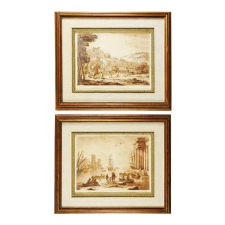 Richard Earlom 1775 Mezzotint Etchings - a Pair For Sale
