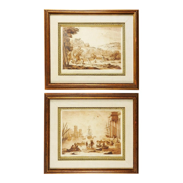 Richard Earlom 1775 Mezzotint Etchings - A Pair For Sale