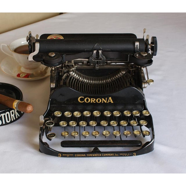 Classic and rare Corona portable #3 folding typewriter with its case. Model 3 was made in 1912. Once declared by Ernest...