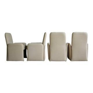 Wool Postmodern Chairs, Set of 4