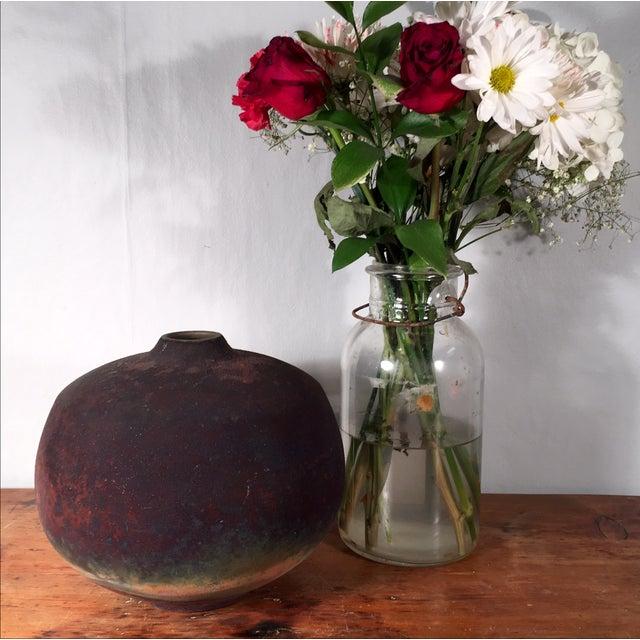 Asian Signed Roku Vase For Sale - Image 3 of 5