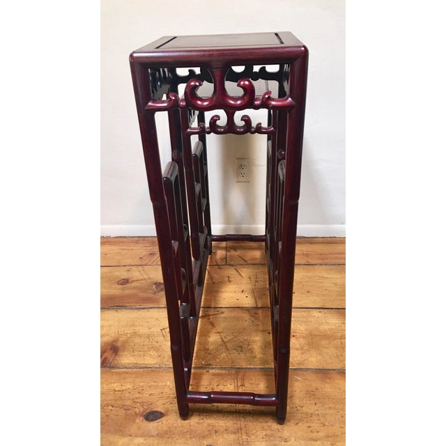 The mortise and tenon construction of this sculptural double rosewood pedestal table is truly fascinating. From the...