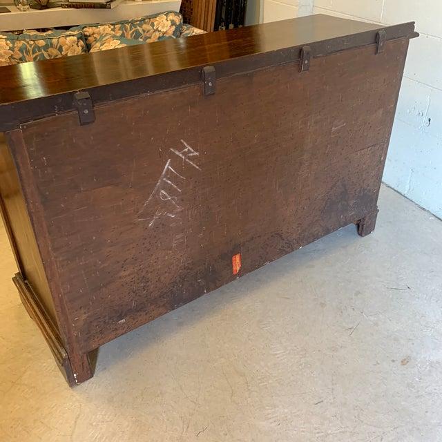 Vintage Dark Oak Carved Wood Server Hunt Board For Sale - Image 10 of 13