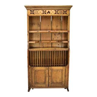 Antique Pine Irish Dresser Kitchen Cabinet
