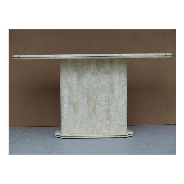 Maitland-Smith Style Tessellated Stone Console - Image 5 of 8
