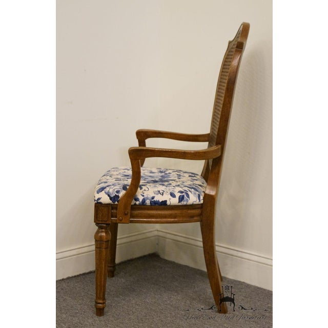 Thomasville Furniture Tapestry Collection Cane Back Dining Arm Chair For Sale - Image 10 of 13