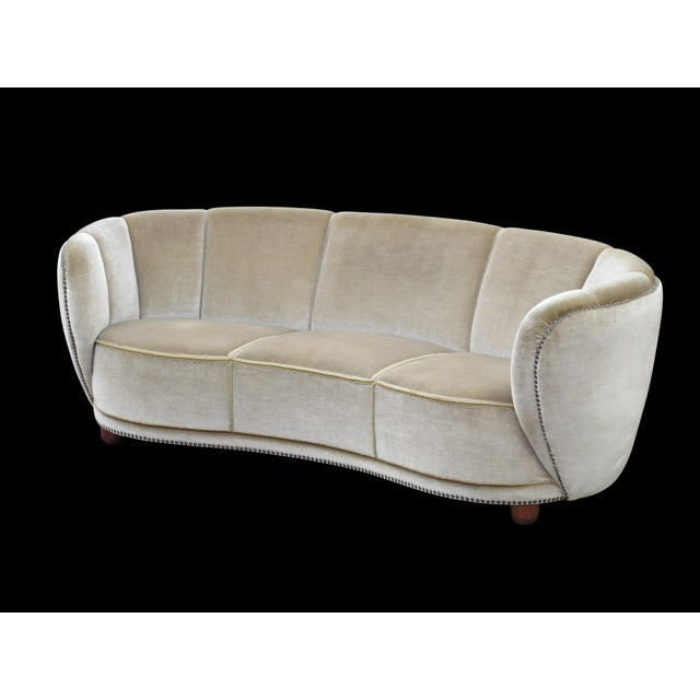 1930's Scandinavian Deco Mohair Sofa For Sale In San Francisco - Image 6 of 13