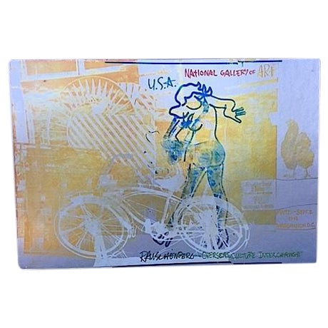 Bicycle, Mounted Rauschenberg Exhibition Poster - Image 1 of 7