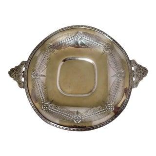 Elegant Wedding Silver Centerpiece Tray For Sale