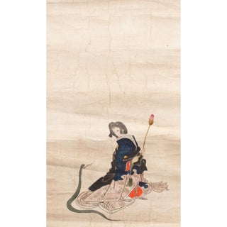 """Edo Era """"The Japanese Cinderella"""" Painting After 8th C. Woodblock Print by Yoshitoshi For Sale"""