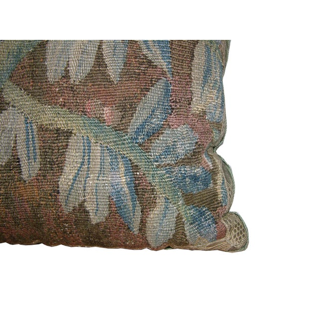 17th Century European Flemish Pillow, Wool with Silk on the back.