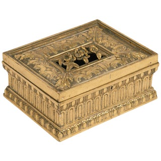 1920s Giltwood and Gesso Box For Sale