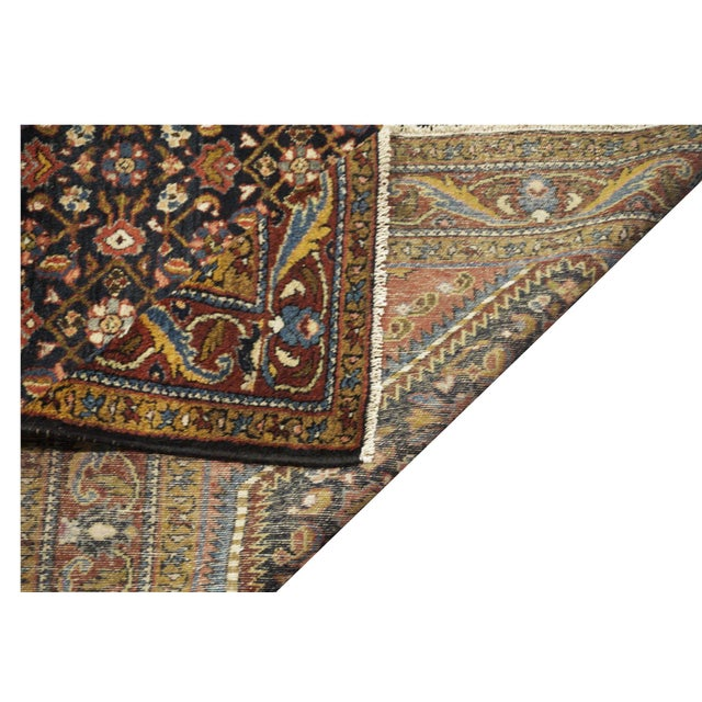 "Antique Persian Hamedan Rug - 4'6"" x 6'11"" For Sale - Image 4 of 5"