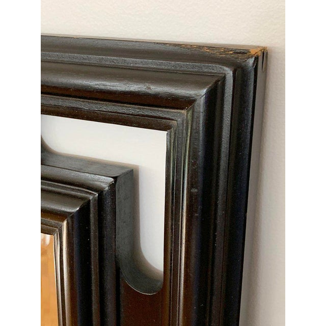FInal Markdown Large James Mont Style Large Carved Greek Key Wood Mirror For Sale - Image 9 of 10