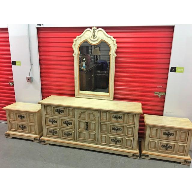 Vintage Stanley Solid Wood Dresser with Mirror - Image 5 of 10