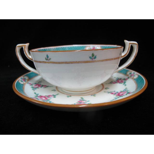 Minton China Persian Rose Bouillon Soup Cups & Saucers - Set of 6 For Sale In Portland, OR - Image 6 of 8