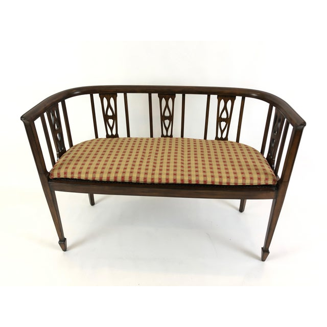 Italian Curved Fruitwood Loveseat Settee For Sale - Image 11 of 11