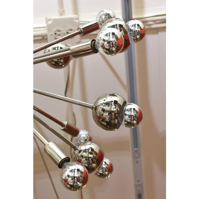 Nickel Silver 24 Bulb Sputnik Vintage Chandelier For Sale In Miami - Image 6 of 10