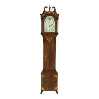 Sligh Henry Ford Inlaid Mahogany Joseph Doll Grandfather Clock For Sale