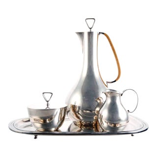 Sterling Silver Coffee Service by Sigvard Bernadotte for Georg Jensen For Sale