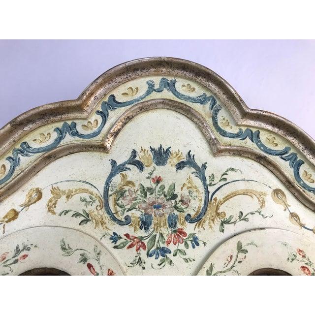 20th Century Cottage Quaint Floral Painted Secretary Desk For Sale - Image 10 of 11