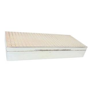 German Lacquered Silver Cigarette Box For Sale