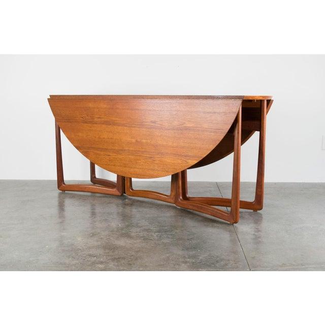 Peter Hvidt Spectacular Peter Hvidt & Orla Molgaard-Nielsen, C. 1960 Teak Dining Table For Sale - Image 4 of 13
