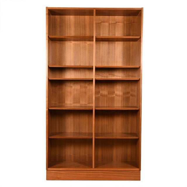 Danish Walnut 42″ Tall Bookcase W/ Adjustable Shelves For Sale - Image 9 of 9