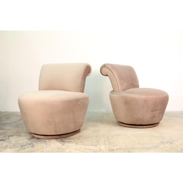1970s 1970s Vintage Vladimir Kagan Swivel Chairs- A Pair For Sale - Image 5 of 5