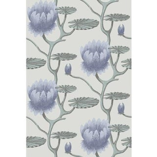 Cole & Son Summer Lily Wallpaper Roll - Blu/Aq/Pearl For Sale