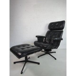 Mid Century Modern Homecrest Lounge Chair B99t & Ottoman B610 Preview