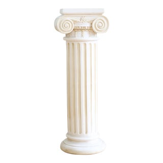 Alabaster Decorative Pillar Made in Greece