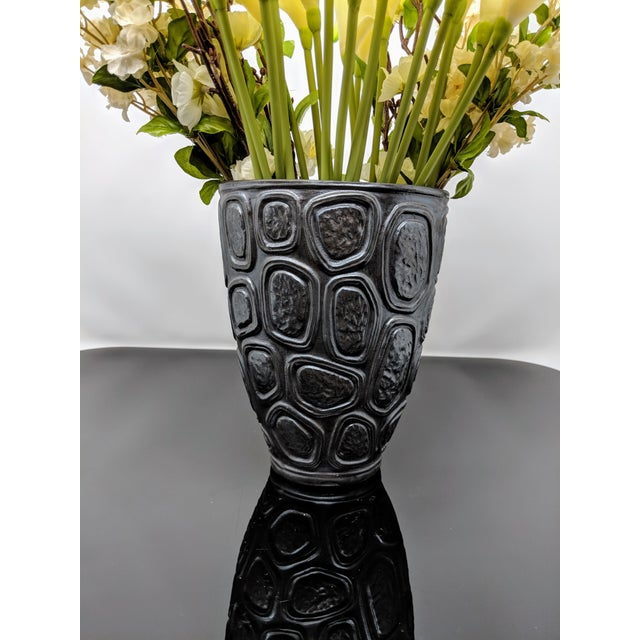 Jonathan Adler Windowpane Brutalist Vase For Sale - Image 10 of 12