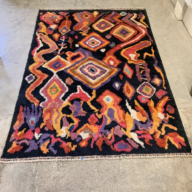 "Turkish Moroccan-Style Shag Rug 8'9""x13'3"" For Sale - Image 12 of 12"