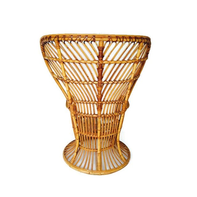 Franco Albini Style Vintage Bamboo Peacock Chair - Image 4 of 6
