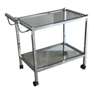 Mid-Century Chrome Bar Cart