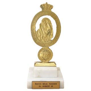 Société Royale Saint Hubert Dog Trophy For Sale