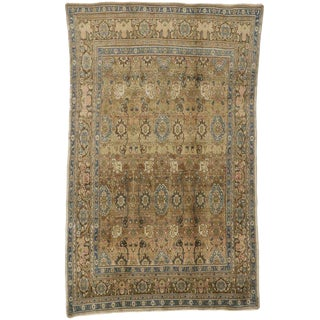 Vintage Persian Traditional Modern Style Hamadan Wool Rug - 6′9″ × 10′11″ For Sale