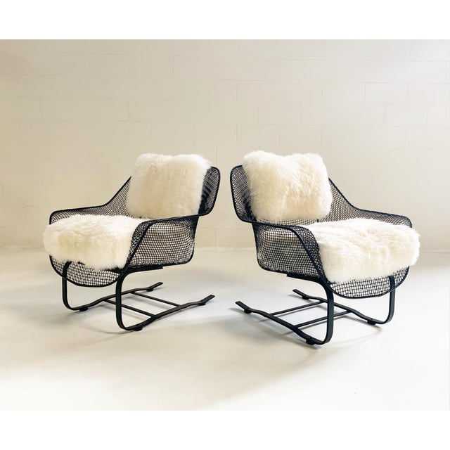 """This is an amazing example of a Woodard """"Sculptura"""" lounge set. The wrought iron is in excellent shape for its age and..."""