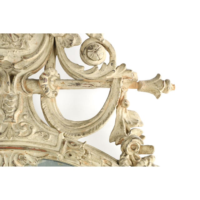 Adam's Style Cream Painted Wall Mirrors - A Pair - Image 8 of 10